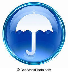 Umbrella icon blue