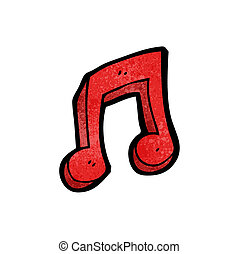 cartoon musical note symbol