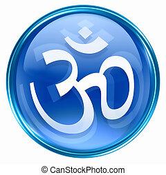 Om Symbol icon blue