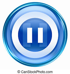 Pause icon blue