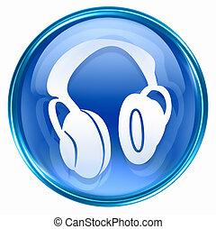 headphones icon blue