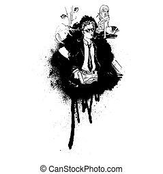 cartoon grafiti spray comic book drawing