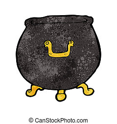 cartoon spooky cauldron