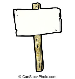 blank signpost cartoon