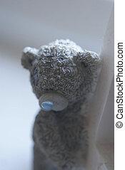 Sad Teddy Bear - A close up of a sad teddy bear