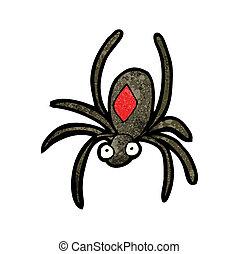 black widow spider cartoon