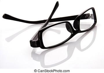 Black Frame Eyeglasses - A black frame eyeglasses in plain...