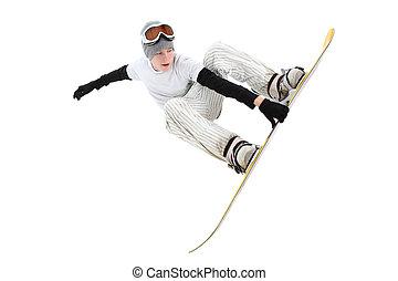 Teenage snowboarder