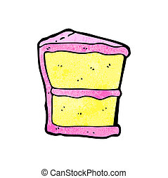 slice of cake cartoon