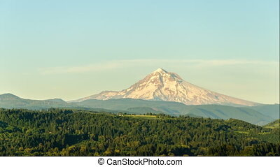 Sunset Time Lapse of Mount Hood - Time lapse video of the...