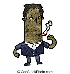 cartoon smoking man