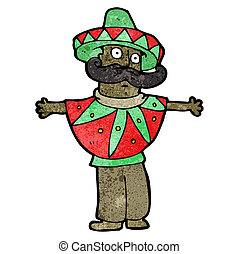 cartoon Mexican man - cartoon mexican man