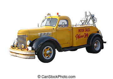 Yellow Wrecker - This is a 1940s yellow wrecker tow truck...