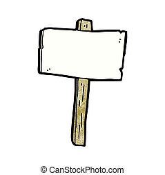 cartoon sign post