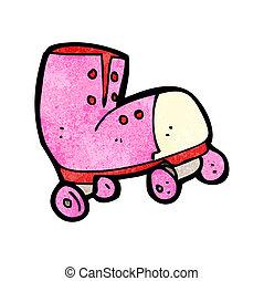 cartoon roller boot