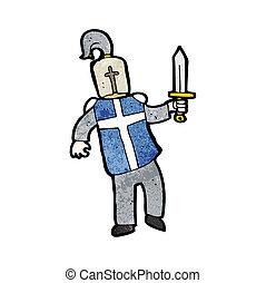 cartoon medieval knight