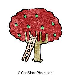 cartoon apple tree