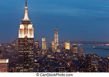 Manhattan view from Rockefeller Cen - Manhattan view from...
