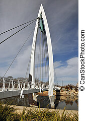 Sailboat Bridge - bridge to keeper of the plains Wichita...