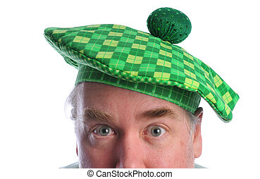 St Pats - man in a St Patick\\\'s day hat