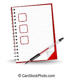 Vector illustration of a checklist