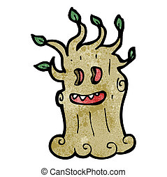 cartoon spooky tree
