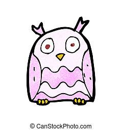 cartoon pink owl