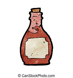 cartoon rum bottle