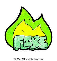 Vector Clipart of spooky green fire cartoon csp15570207 - Search ...
