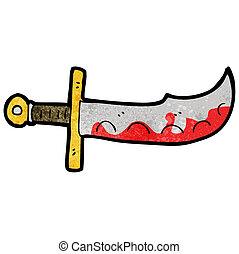 cartoon bloody sword
