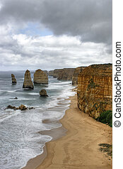 Shipwreck coast - The Twelve Apostles along the Shipwreck...