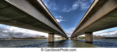 Modern bridge - Image of a modern bridge taken from a...