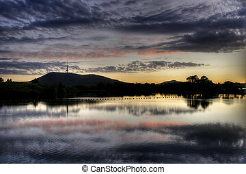 Lake View - View of Lake Burley Griffin, in Canberra,...