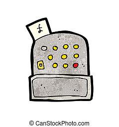 cartoon cash register