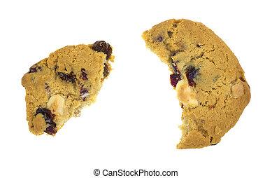 Broken cranberry white chocolate cookie