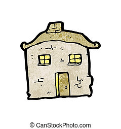 cartoon crumbling old house