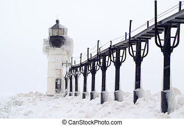 Blizzard over St Joseph - Blizzard over the Outer Lighthouse...