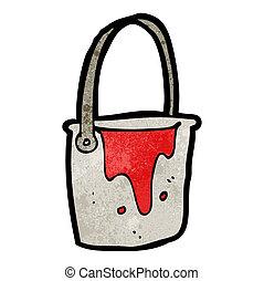 cartoon bucket of paint