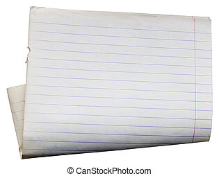Sheet of Old note book