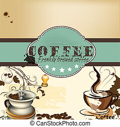 Design of coffee shop or cafe post - Cute design of vector...