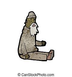 cartoon beggar