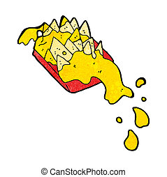 cartoon cheesy nachos