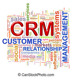 crm customer relationship managment - Illustration of...