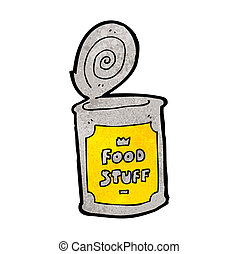 cartoon tinned food