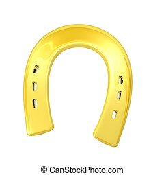 Luck - gold horseshoe as a symbol of luck