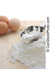 Baking - Cooking ingredients for preparing food isolated on...