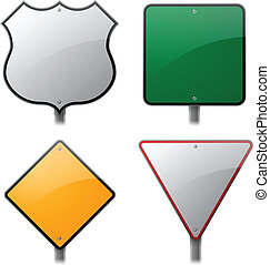 Traffic Signs - Traffic sign elements.
