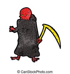 cartoon death with scythe