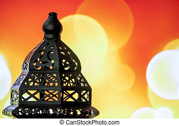 Ramadan Lantern - Egyptian lantern on bokeh light