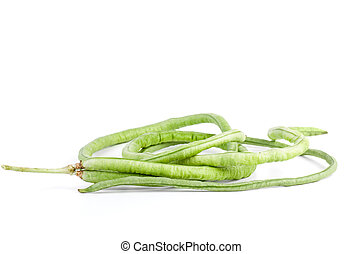 Few pods of fresh long beans (Vigna unguiculata) fresh long...
